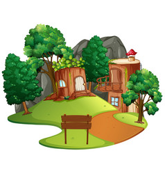 isolated enchanted tree house vector image