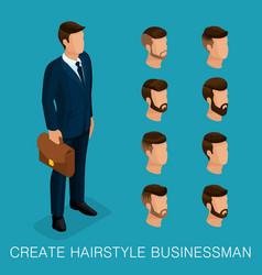 isometric businessmen vector image