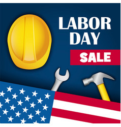 labor day sale concept background realistic style vector image