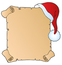 Letter with christmas hat 1 vector