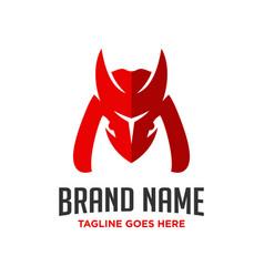 logo design letter m horn vector image