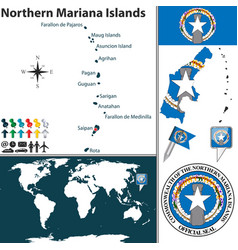 map northern mariana islands vector image