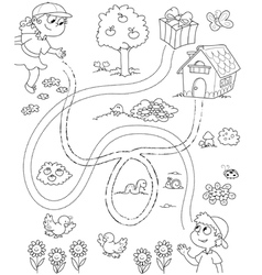 maze game for children vector image