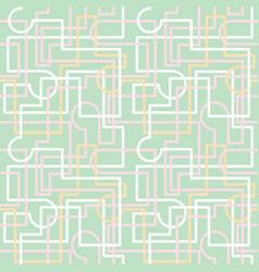 Maze grid interlocking lines pastel repeat vector