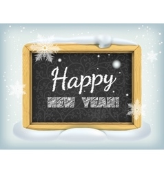 Merry Christmas lettering on blackboard vector image