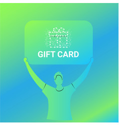 Modern gift card promotion ads vector
