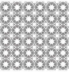 monochrome ornate seamless pattern vector image