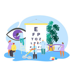Ophthalmology clinical eye care vector