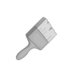 Paint brush icon black monochrome style vector image
