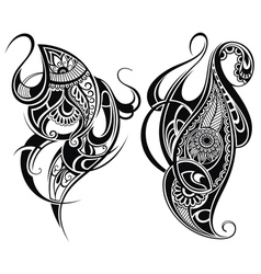 Paisley elements vector image
