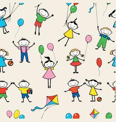 pattern merry kids vector image