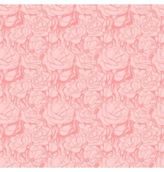 Pattern Rose Flower Pink vector image