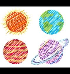 Planet artworks vector