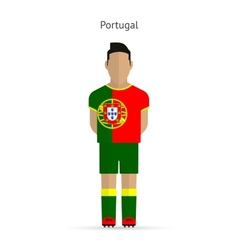 Portugal football player Soccer uniform vector image