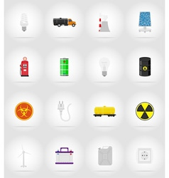 Power and energy flat icons 17 vector