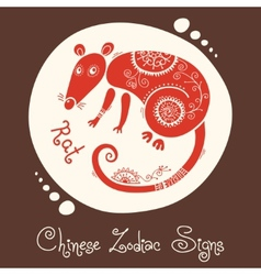 Rat Chinese Zodiac Sign vector