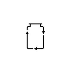 recycle jar glass logo icon vector image