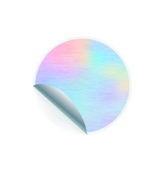 round shaped trendy sticker with hologram pattern vector image