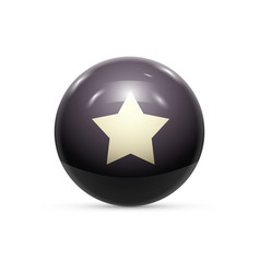 rubber ball with star isolated vector image