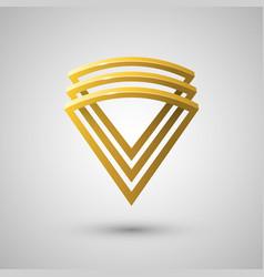 sector shaped logo design element vector image