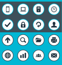 set of simple practice icons vector image