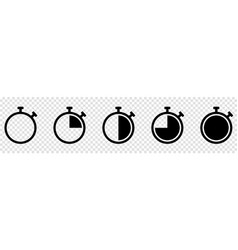 set timer or stopwatch icons vector image