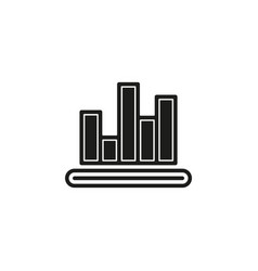 simple chart icon vector image