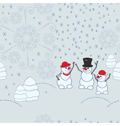 Snowmen background vector