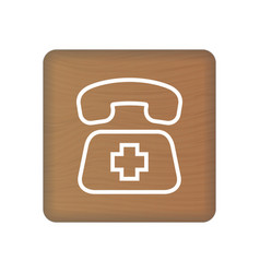 sos icon rescue services phone call vector image
