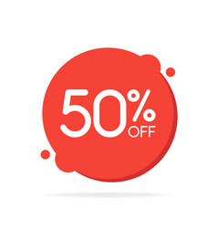 special offer sale red round circle tag discount vector image