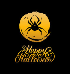 spider with happy halloween vector image vector image