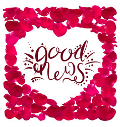 the good news calligraphy vector image