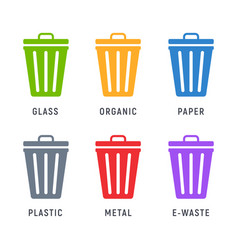 trash can garbage dustbin waste trashcan basket vector image