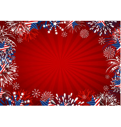 usa background design of star and fireworks vector image