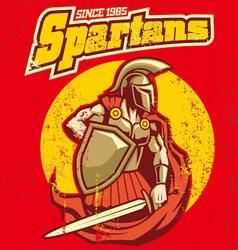 Vintage spartan mascot vector