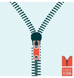 Zipper icon isolated vector image