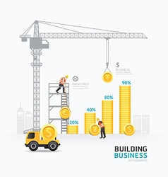 Infographic business money graph template design vector image vector image