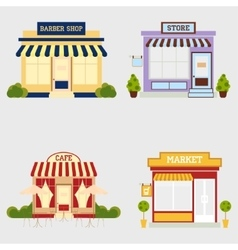 Market street store vector image vector image