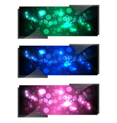 shiny sparkling banners vector image