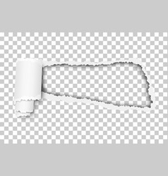 Torn snatched window in sheet vector