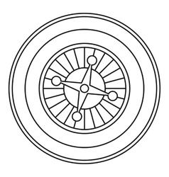 Casino roulette icon outline style vector image vector image
