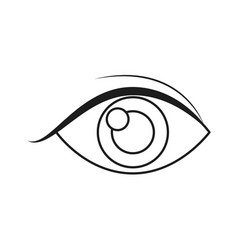 human eye vision optical look outline vector image