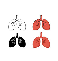 set of lung icon art vector image vector image