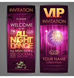 All night dance poster vector image