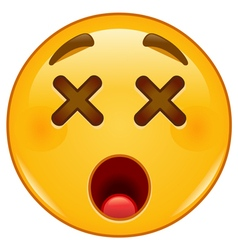 dizzy emoticon vector image