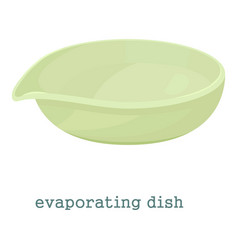 evaporating dish icon cartoon style vector image