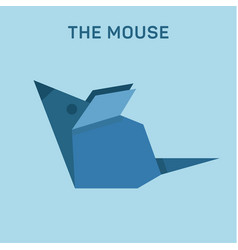 mouse origami animal flat low poly vector image vector image