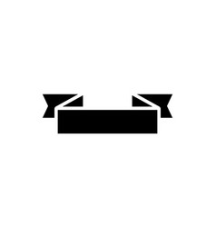 ribbon 2 corners 2 icon vector image vector image