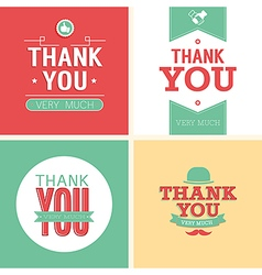 Vintage card - Thank You set vector image