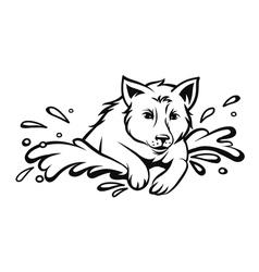 Dog jumping vector image vector image